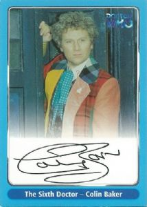 Doctor Who COLIN BAKER The Sixth Doctor autograph card A3 Strictly Ink -  10630